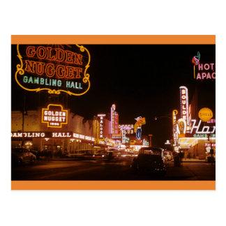 Carte Postale Pépite 1952 d'or de Las Vegas de cru