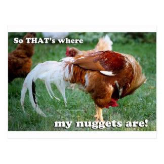 Carte Postale Pépites de poulet - coq