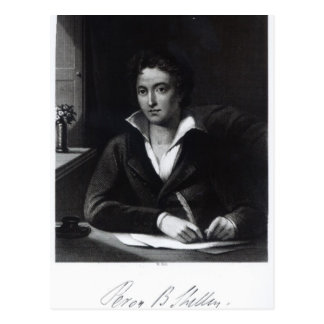 Carte Postale Percy Bysshe Shelley, gravé par William Holl
