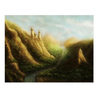 carte postale perdue de paysage d'imaginaire de