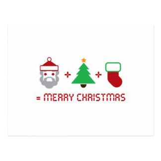 Carte Postale Père Noël + Arbre + Stockage = Joyeux Noël