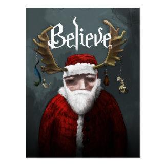 """Carte Postale Père Noël """"croient """""""