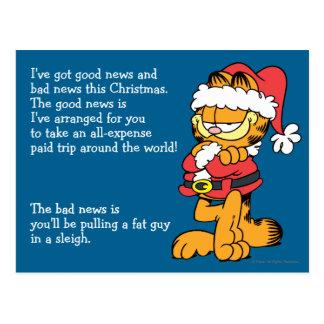 Carte Postale Père Noël Garfield