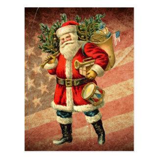 Carte Postale Père Noël patriotique/carte postale vintage
