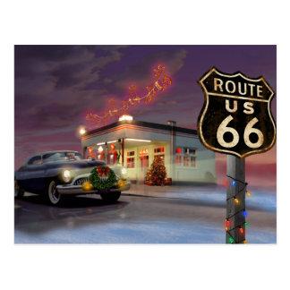 Carte Postale Père Noël sur l'itinéraire 66