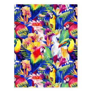 Carte Postale Perroquets 2 d'aquarelle