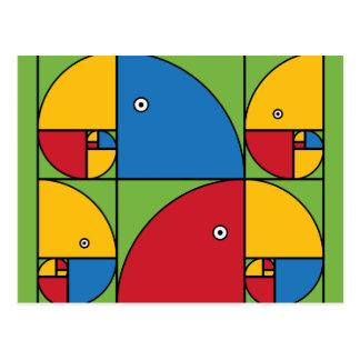 Carte Postale Perroquets de Fibonacci