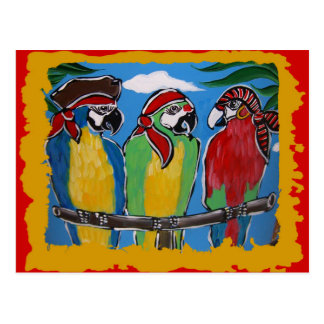 Carte Postale Perroquets de partie