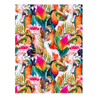 Carte Postale Perroquets et palmettes 2