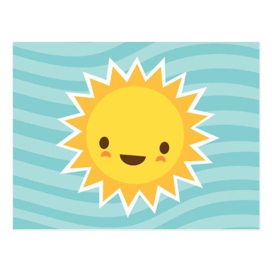 Carte postale personnage de dessin anim mignon du soleil - Dessin du soleil ...