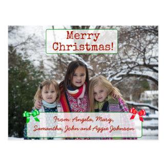 Carte postale personnalisée de photo de famille de