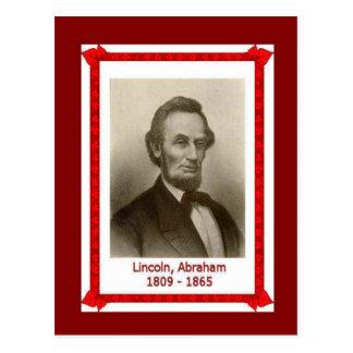 Carte Postale Personnes célèbres, Abraham Lincoln 1809-1865