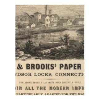 Carte Postale Persse et travaux de papier des ruisseaux
