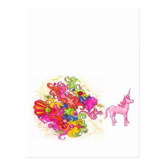 Carte Postale Pet de licorne
