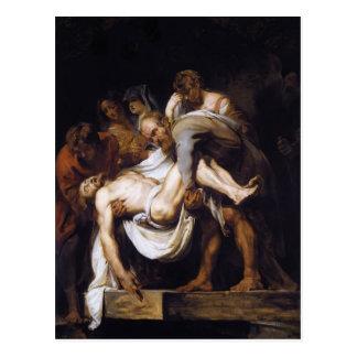 Carte Postale Peter Paul Rubens- la mise au tombeau
