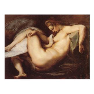 Carte Postale Peter Paul Rubens - Léda et le cygne
