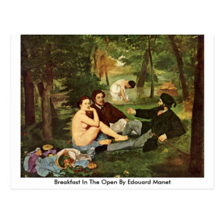 Carte Postale Petit déjeuner dans l'ouvert par Edouard Manet
