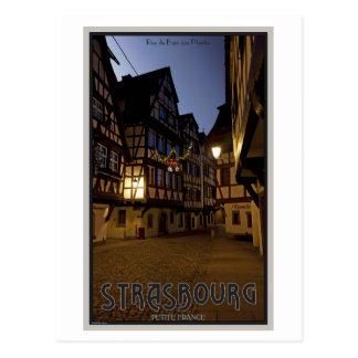 Carte Postale Petit France début de la matinée de Strasbourg -