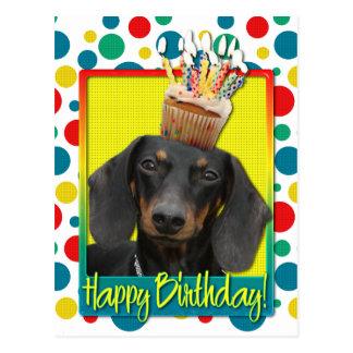 Carte Postale Petit gâteau d'anniversaire - teckel - Winston