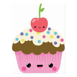 Carte Postale Petit gâteau mignon de Kawaii