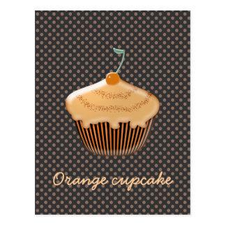 Carte Postale petit gâteau orange délicieux