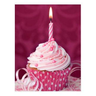 Carte Postale Petit gâteau rose