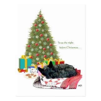 Carte Postale Petit somme de Noël de Terrier d'écossais