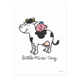 Carte Postale Petite équitation de vache à Mlle Tiny |