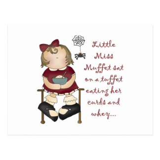 Carte Postale Petite Mlle Muffet