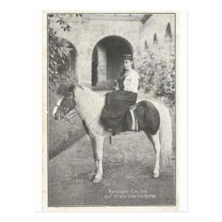 Carte Postale Petite selle de femme #036SS de poney d'équitation