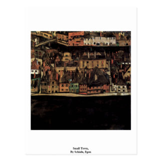 Carte Postale Petite ville, par Schiele, Egon