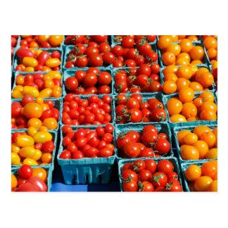 Carte Postale Petites tomates rouges et oranges