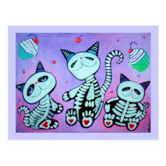 Carte Postale Petits gâteaux de chat de Kitty