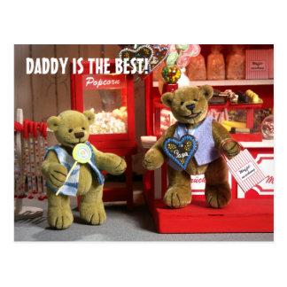 Carte Postale Petits ours : Le papa est le meilleur !