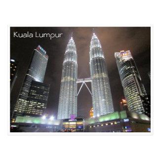 Carte Postale Petronas domine nuit