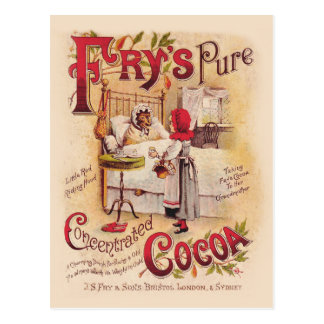 Carte Postale Peu de cacao rouge de capuchon