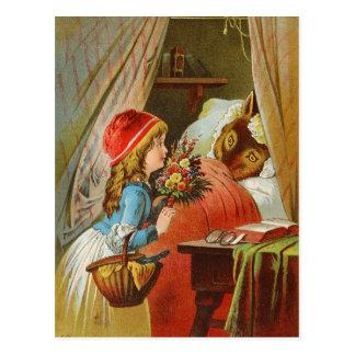 Carte Postale Peu de capuchon rouge par Karl Offterdinger