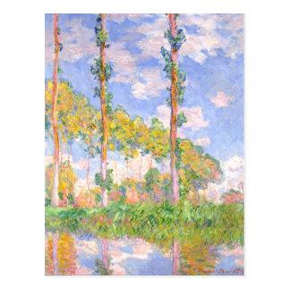 Carte Postale Peupliers de vent de Monet dans le paysage de cru
