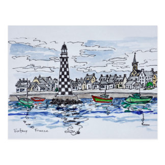 Carte Postale Phare de Perdrix, Loctudy | la Bretagne, France