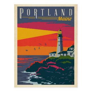Carte Postale Phare de Portland, Maine |