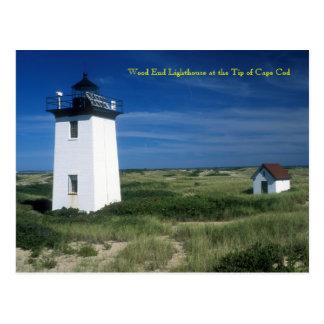 Carte Postale Phare en bois d'extrémité, bout de Cape Cod,