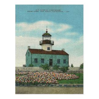 Carte Postale Phare vintage San Diego la Californie de Point