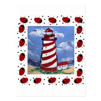 Carte Postale Phares de coccinelle