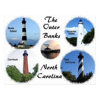 Carte Postale Phares des banques externes