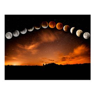 Carte Postale phases de la lune