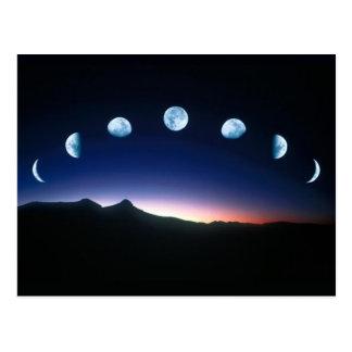 Carte Postale Phases de lune