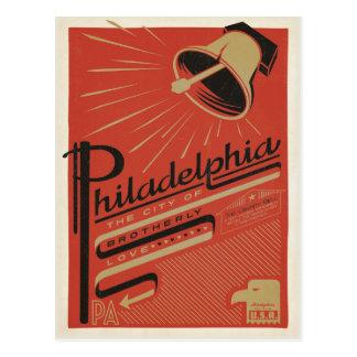 Carte Postale Philadelphie, PA - amour fraternel