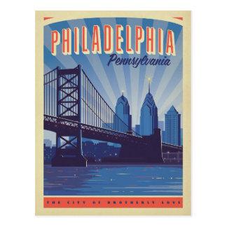 Carte Postale Philadelphie, Pennsylvanie | la ville de fraternel
