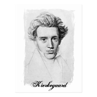 Carte Postale Philosophe Soren Kierkegaard