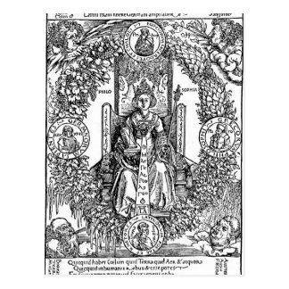 Carte Postale Philosophia par Albrecht Durer